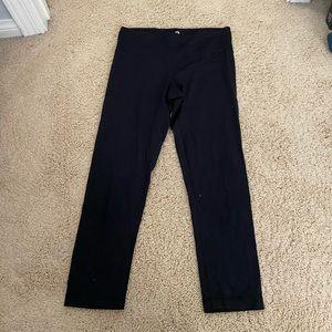 Black cropped workout leggings women's small